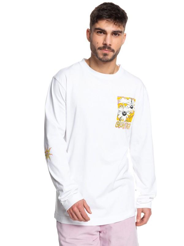 0 Positive Vibrations - Long Sleeve T-Shirt White EQYKT03955 Quiksilver