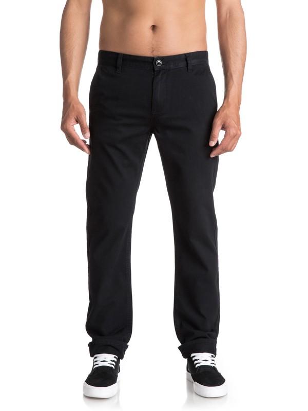 0 Everyday - Pantalon chino Noir EQYNP03093 Quiksilver