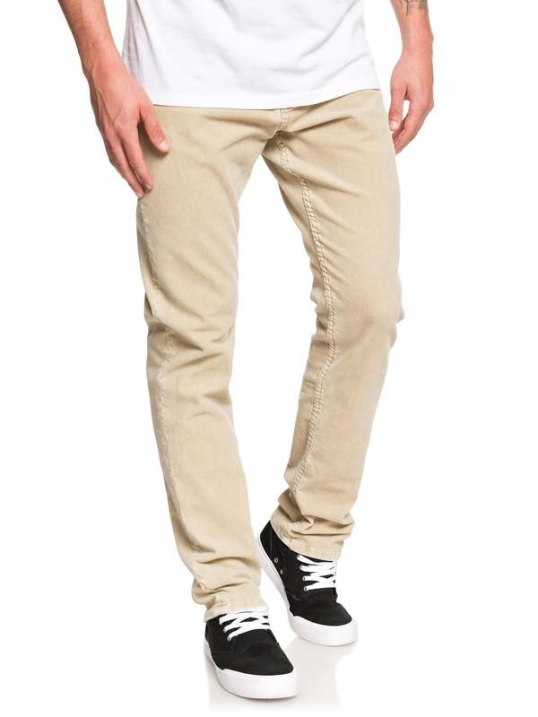 0 Kracker Straight Fit Corduroy Pants Brown EQYNP03129 Quiksilver