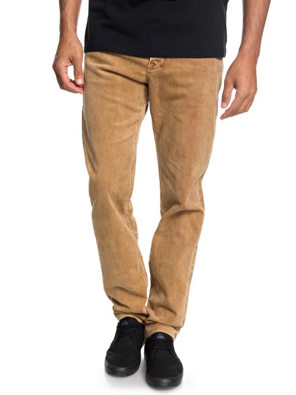 0 Pantalones de Pana de Ajuste Recto Kracker Marrón EQYNP03129 Quiksilver