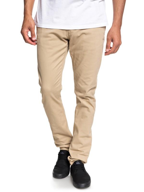 0 Krandy - Pantalon chino slim pour Homme Marron EQYNP03149 Quiksilver