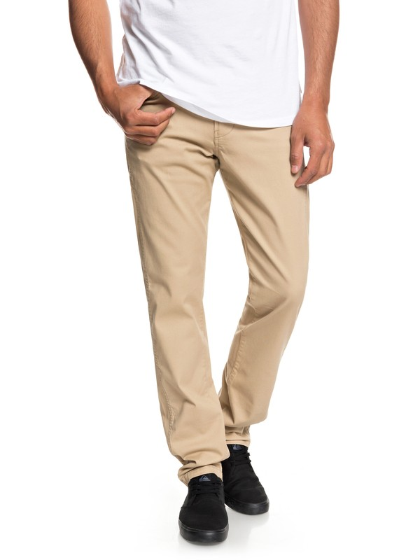 0 Krandy Straight Pants Brown EQYNP03151 Quiksilver