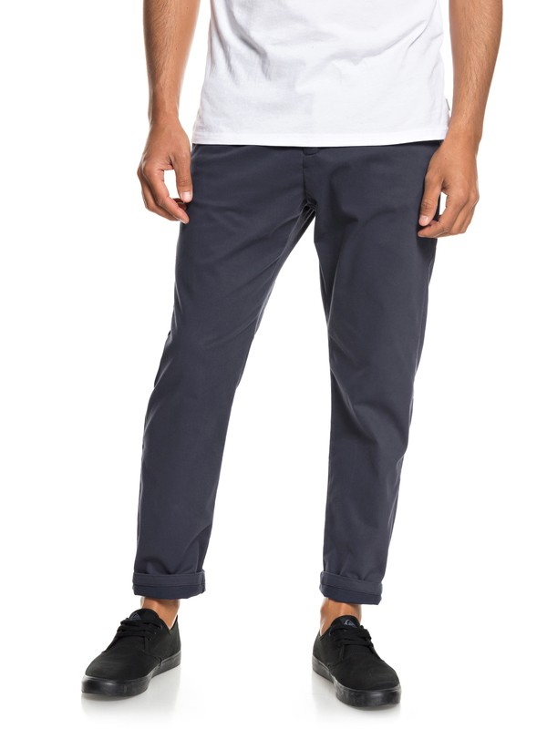 0 QTRVL - Crop Chinos for Men Blue EQYNP03152 Quiksilver