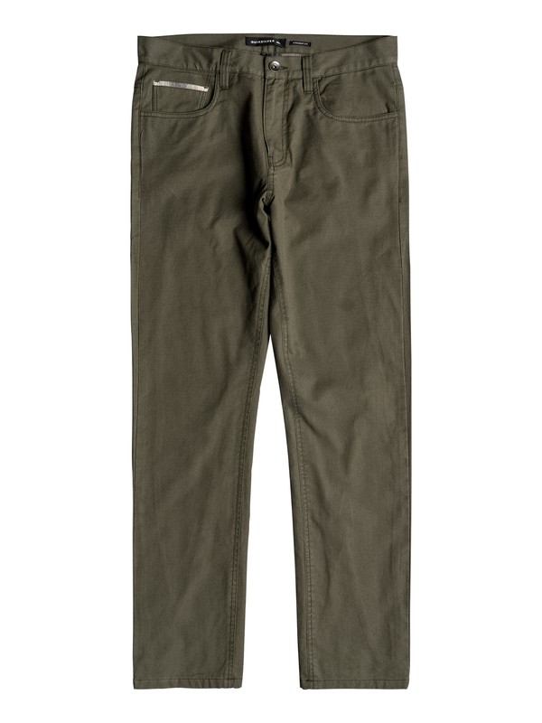 0 Smoking Otsu Straight Fit Canvas Pants Brown EQYNP03157 Quiksilver