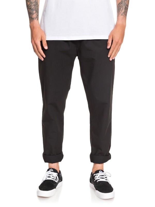 0 Hue Hiller Elasticized Pants Black EQYNP03163 Quiksilver