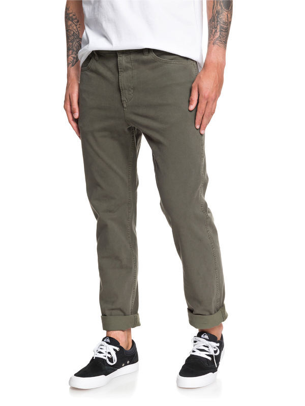 0 Krandy - Straight Fit Trousers Brown EQYNP03168 Quiksilver
