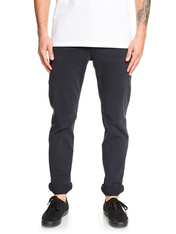 0 Krandy - Straight Fit Trousers Black EQYNP03168 Quiksilver