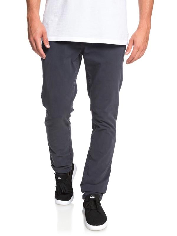 0 Krandy - Pantalón Chino de Corte Ajustado para Hombre Azul EQYNP03169 Quiksilver