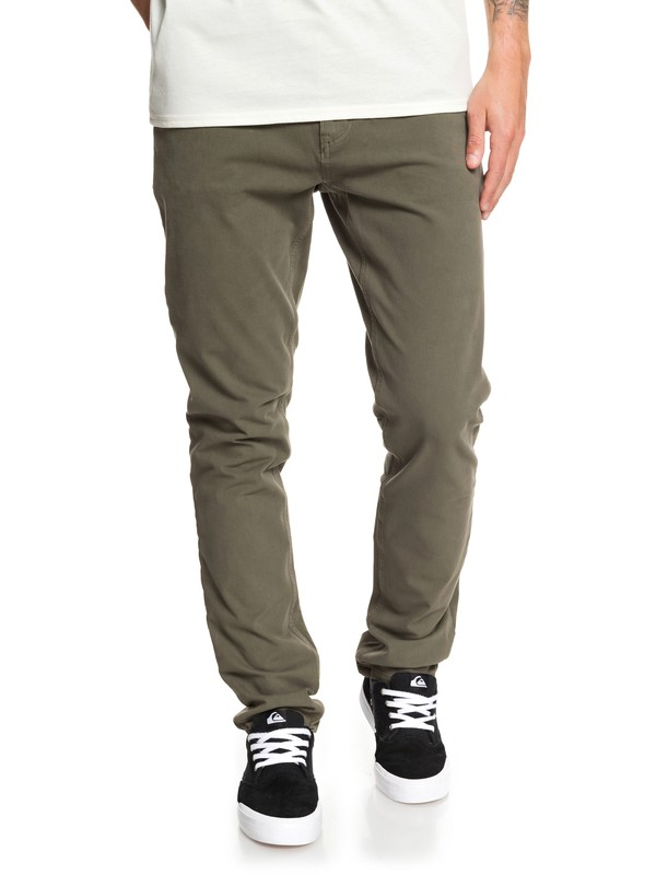 0 Krandy Slim - Chinos Brown EQYNP03169 Quiksilver
