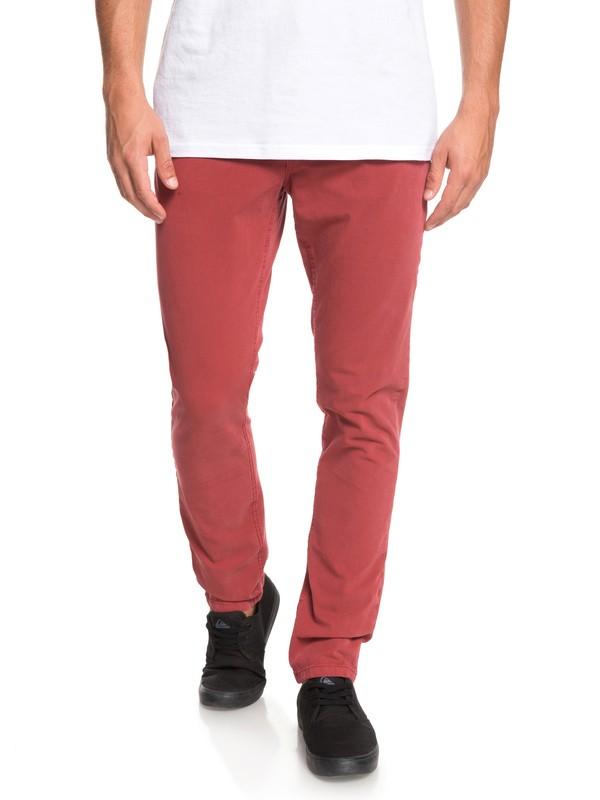 0 Узкие брюки-чинос Krandy Красный EQYNP03169 Quiksilver