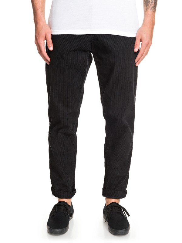 0 Disaray Tapered Corduroy Pants Black EQYNP03172 Quiksilver