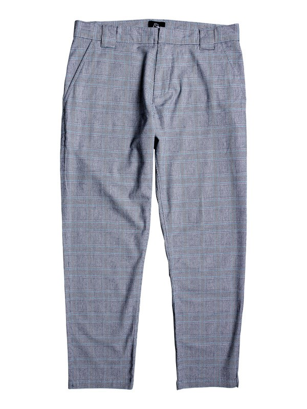 0 The Originals Tapered Cropped Check Pants Brown EQYNP03174 Quiksilver