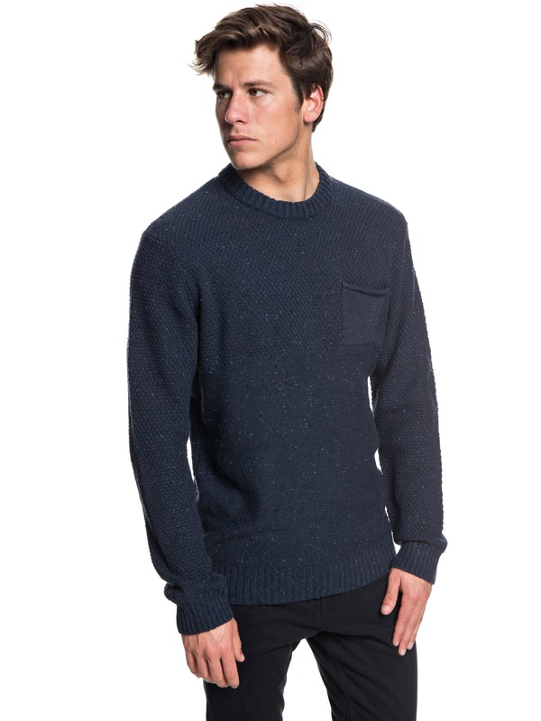 0 Newchester - Pull col rond pour Homme Bleu EQYSW03164 Quiksilver