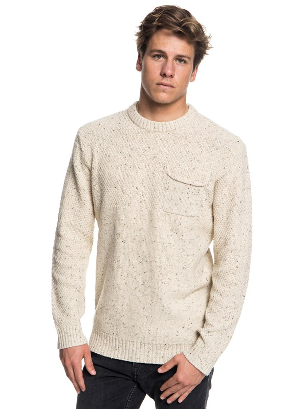 0 Newchester - Pull col rond pour Homme Beige EQYSW03164 Quiksilver