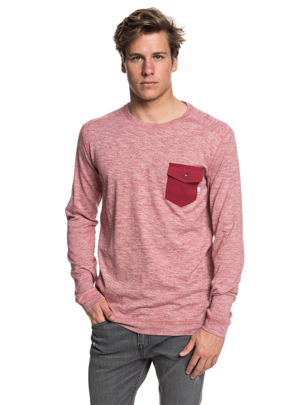 0 Lindow Sweatshirt Red EQYSW03213 Quiksilver