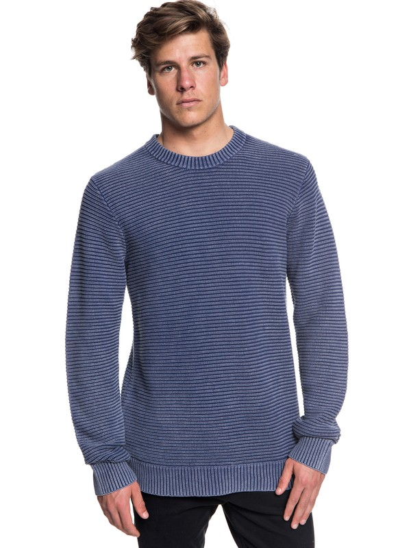 0 Inland Seto - Pull col rond pour Homme Bleu EQYSW03223 Quiksilver