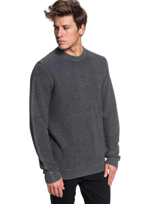 0 Inland Seto - Pull col rond pour Homme Noir EQYSW03223 Quiksilver