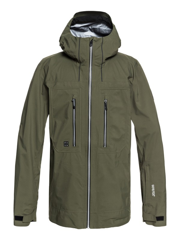0 Mamatus 3L GORE-TEX® - Shell Snow Jacket for Men Brown EQYTJ03168 Quiksilver