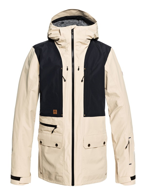 0 Black Alder 2L GORE-TEX® - Shell Parka Snow Jacket for Men Beige EQYTJ03169 Quiksilver