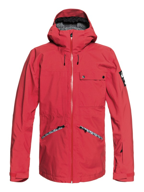 0 Snow SpinDye® - Shell Snow Jacket for Men Red EQYTJ03171 Quiksilver