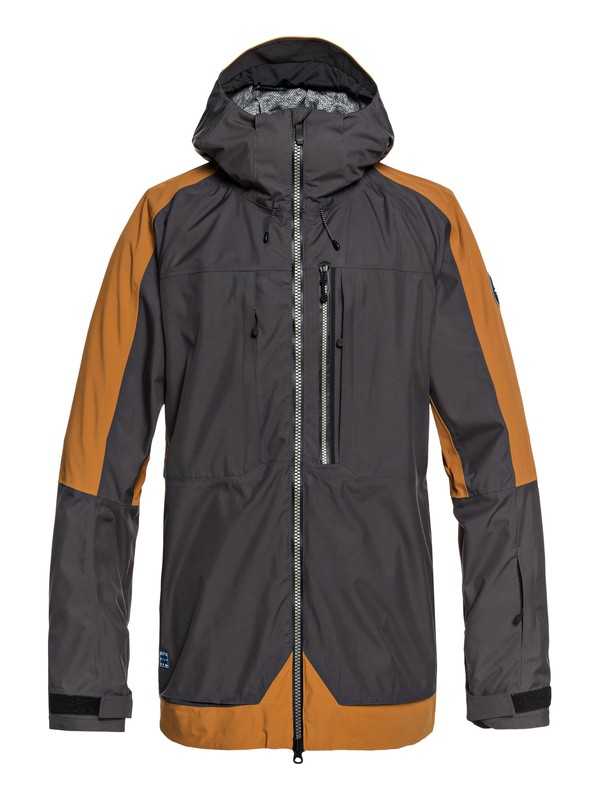 0 Travis Stretch Snow Jacket Brown EQYTJ03172 Quiksilver