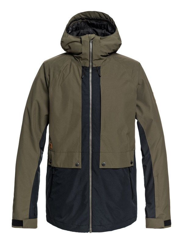 0 TR Ambition - Parka Snow Jacket for Men Brown EQYTJ03179 Quiksilver