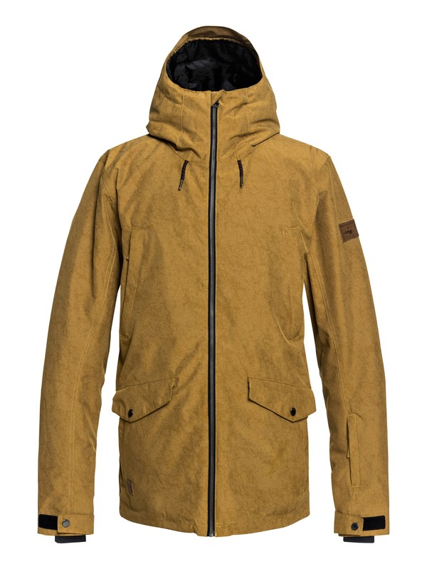 0 Drift - Parka Snow Jacket for Men Brown EQYTJ03182 Quiksilver
