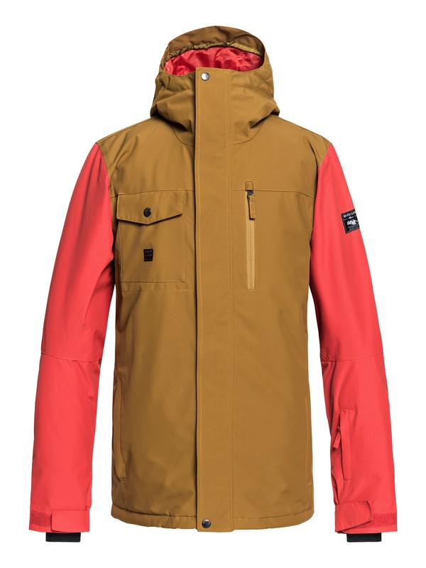 0 Mission - Snow Jacket for Men Brown EQYTJ03185 Quiksilver