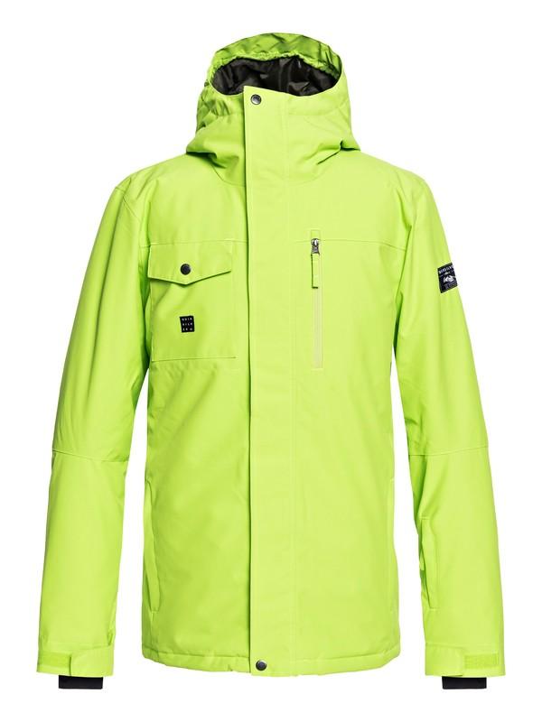 0 Mission - Snow Jacket for Men Green EQYTJ03185 Quiksilver