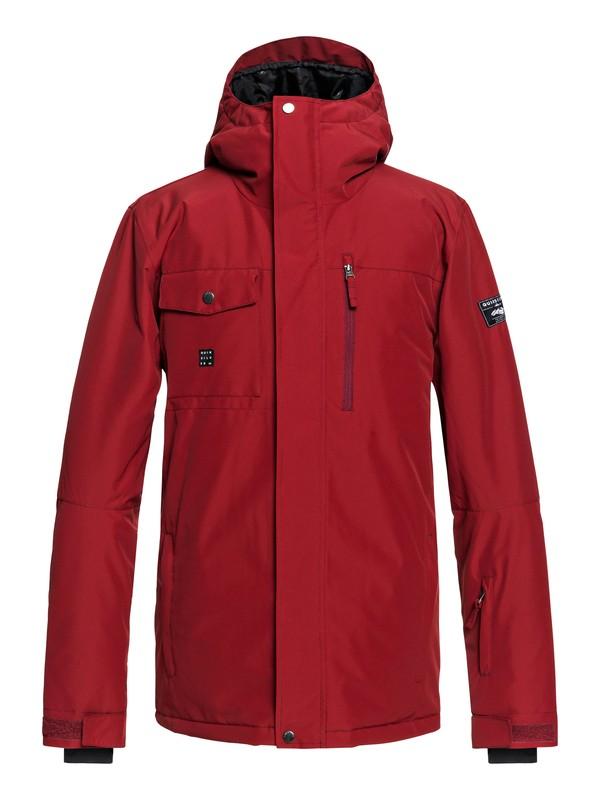 0 Mission - Chaqueta Para Nieve para Hombre Rojo EQYTJ03185 Quiksilver
