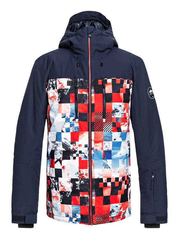 0 Mission Block - Snow Jacket for Men Red EQYTJ03187 Quiksilver