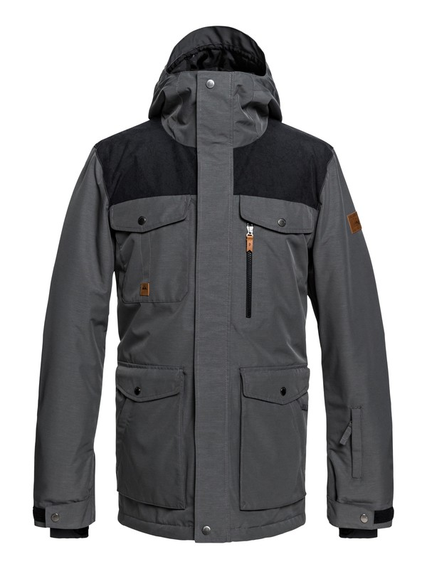 0 Raft Snow Jacket Black EQYTJ03188 Quiksilver