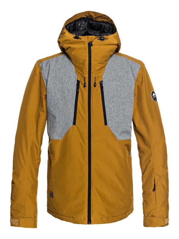 0 Mission Plus - Snow Jacket for Men Brown EQYTJ03189 Quiksilver