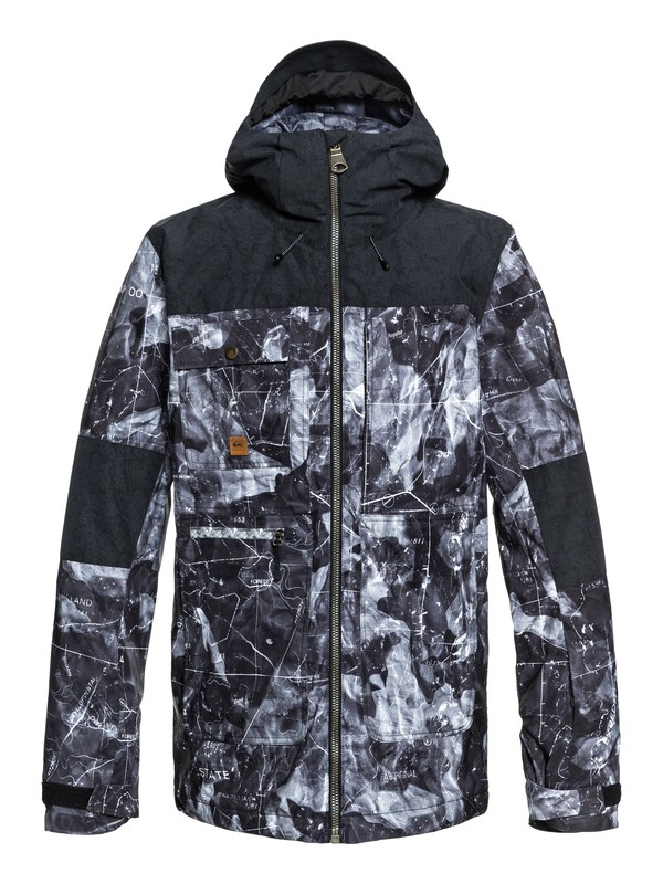0 Arrow Wood Snow Jacket Black EQYTJ03191 Quiksilver