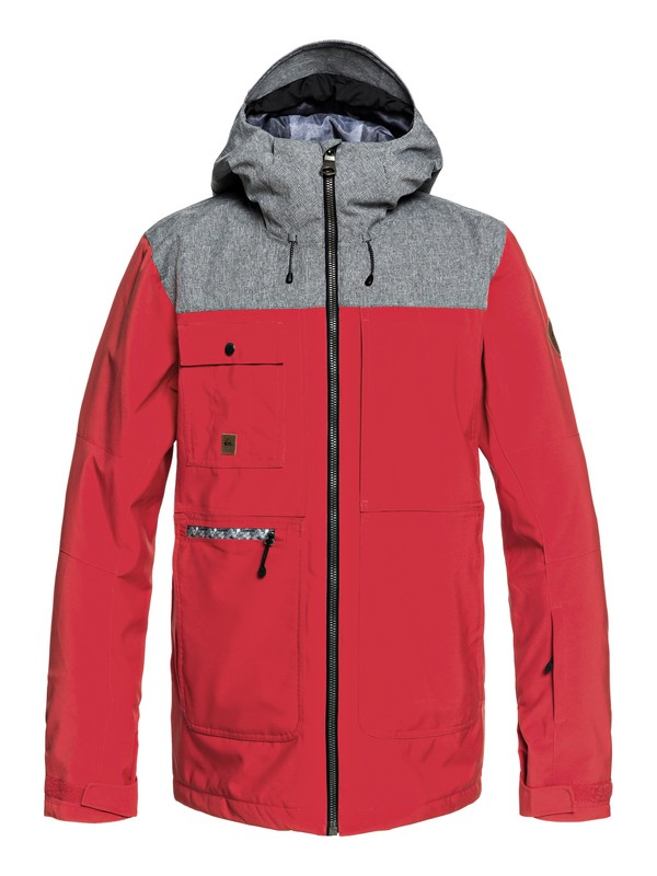 0 Arrow Wood Snow Jacket Red EQYTJ03191 Quiksilver