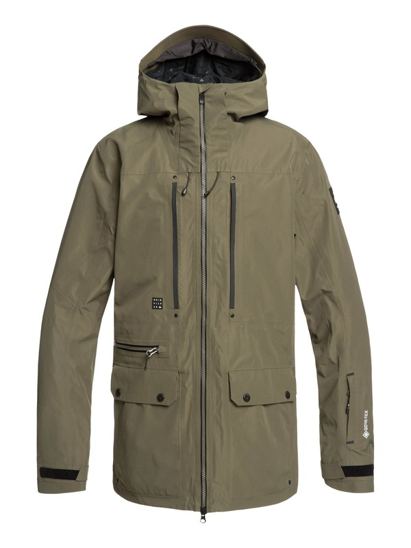 0 Black Alder 2L GORE-TEX® - Snow Jacket Brown EQYTJ03207 Quiksilver