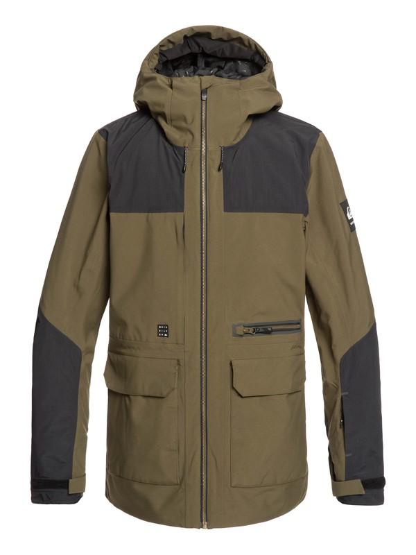 0 Arrow Wood Snow Jacket Brown EQYTJ03212 Quiksilver