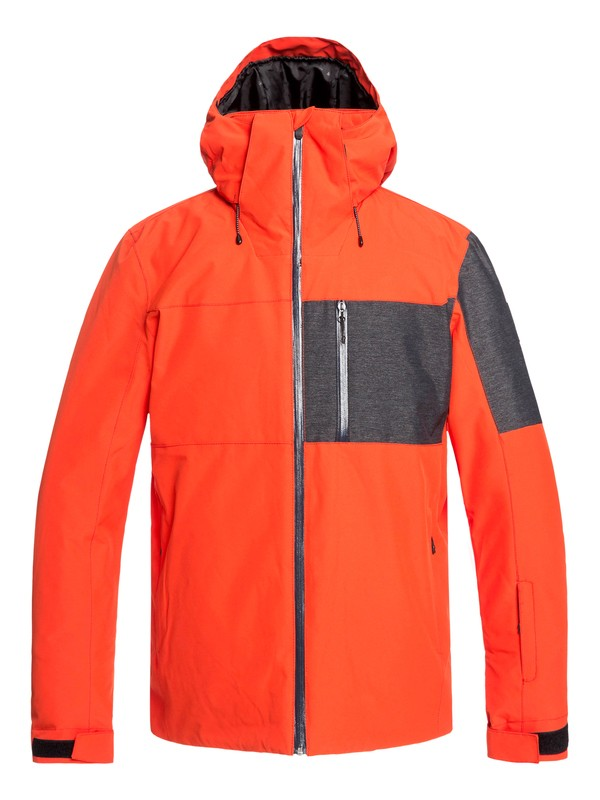 0 Mission Plus Snow Jacket Orange EQYTJ03215 Quiksilver