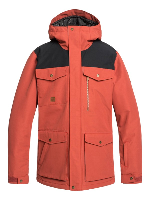 0 Raft Snow Jacket Red EQYTJ03227 Quiksilver