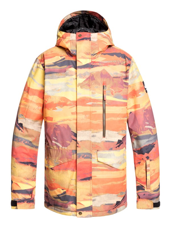 0 Mission Snow Jacket Red EQYTJ03230 Quiksilver