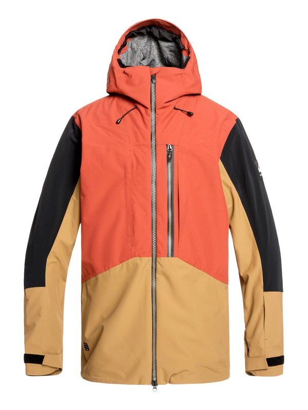 0 Travis Rice Stretch Snow Jacket Red EQYTJ03231 Quiksilver