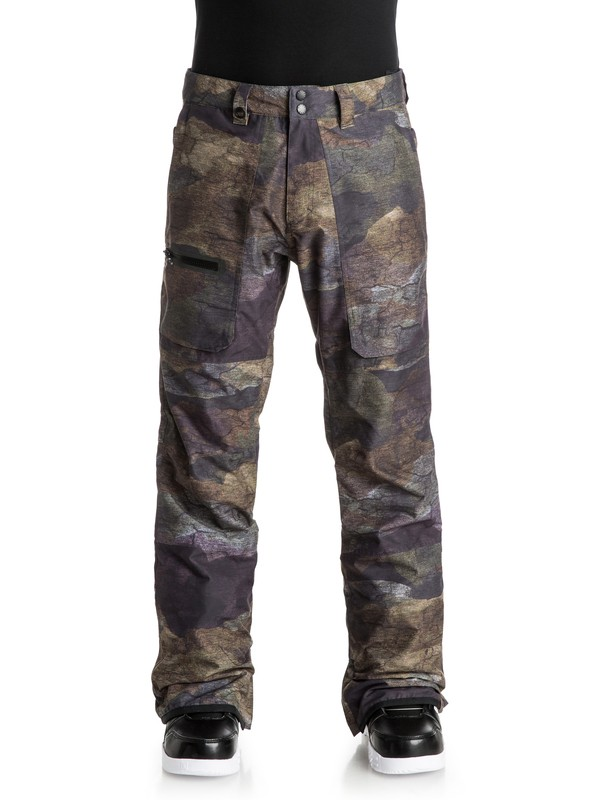 0 Dark And Stormy - Snow Pants Brown EQYTP03034 Quiksilver