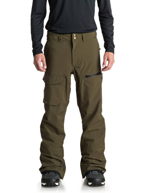 0 Utility Snow Pants Brown EQYTP03081 Quiksilver