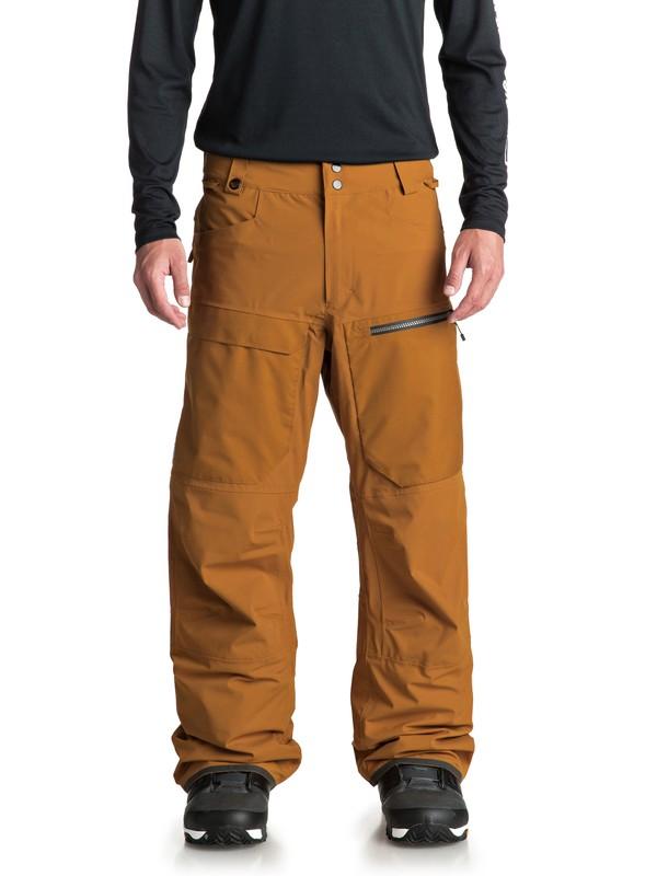 0 Сноубордические штаны TR Stretch Коричневый EQYTP03082 Quiksilver