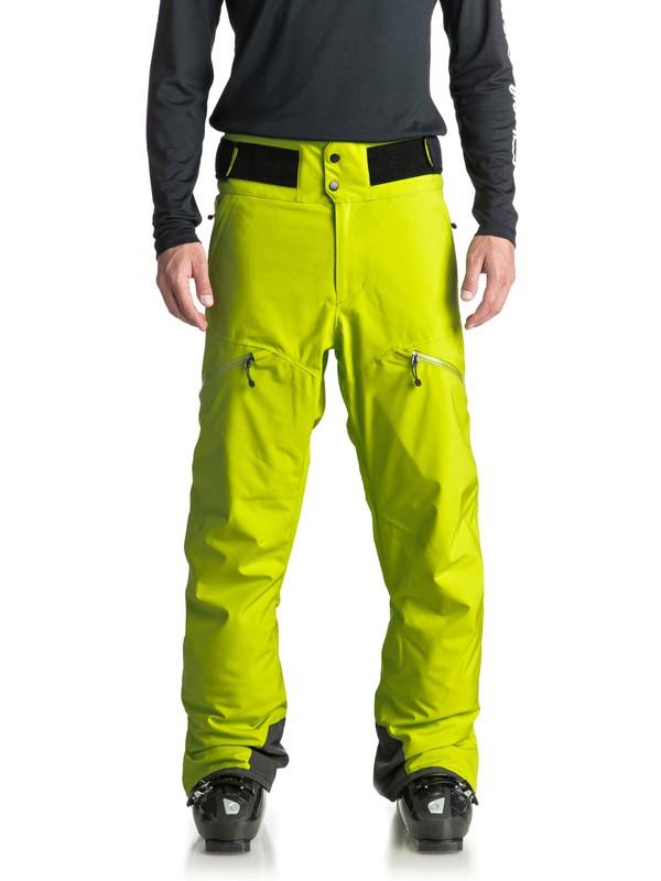 0 Сноубордические штаны Orbitor Зеленый EQYTP03083 Quiksilver