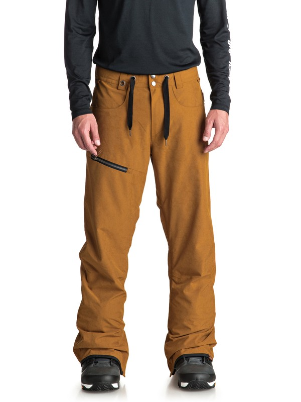 0 Forest Oak - Shell Snow Pants for Men Brown EQYTP03084 Quiksilver
