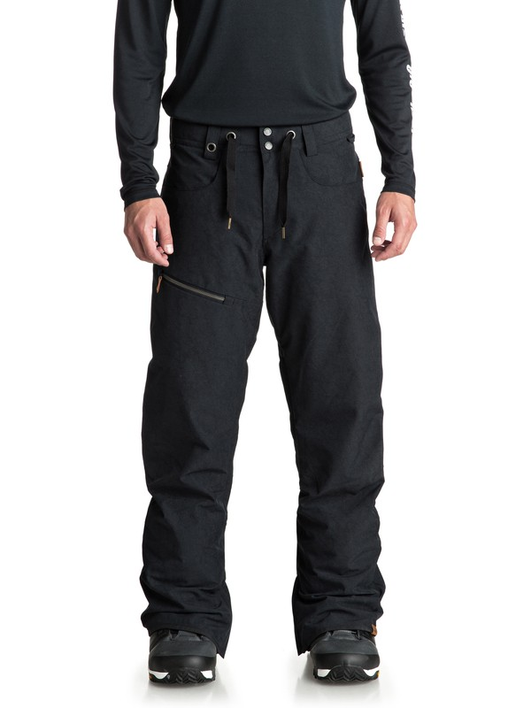 0 Forest Oak Snow Pants Black EQYTP03084 Quiksilver