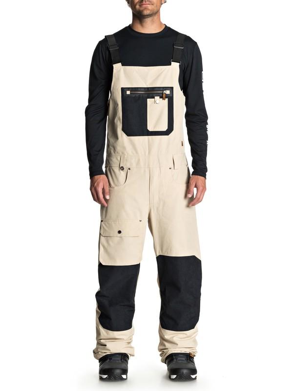 0 Found Snow Bib Pants Beige EQYTP03085 Quiksilver