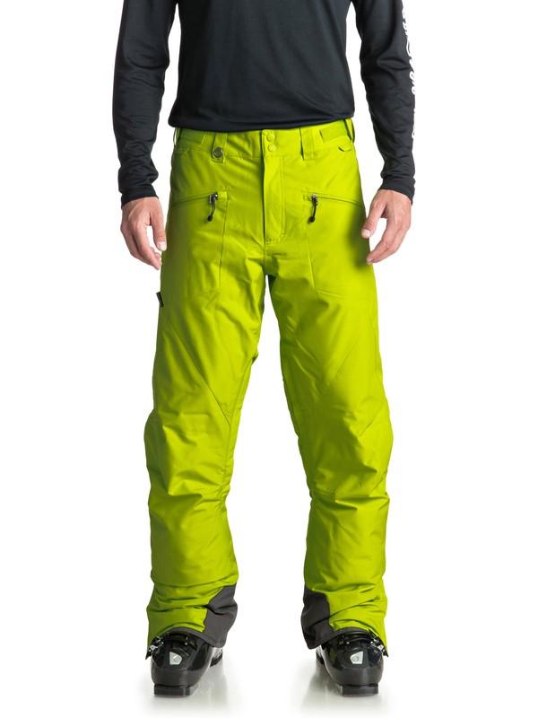 0 Сноубордические штаны Boundry Зеленый EQYTP03086 Quiksilver