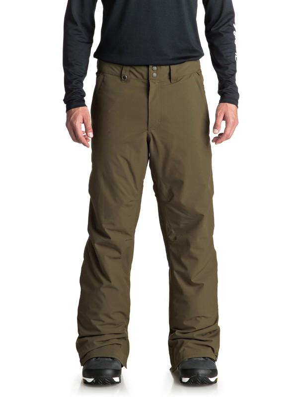 0 Estate - Snow Pants for Men Brown EQYTP03088 Quiksilver